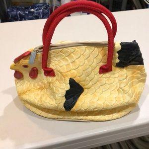 Handbag rubber chicken